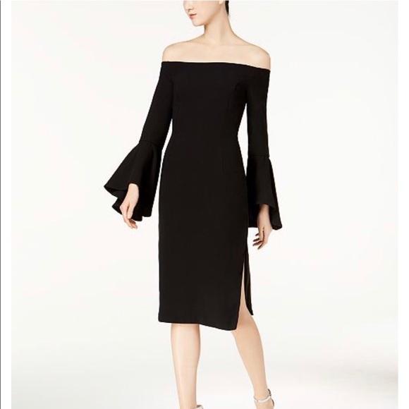 Bardot Dresses & Skirts - Bardot Off-the-Shoulder Bell Sleeve Midi Dress